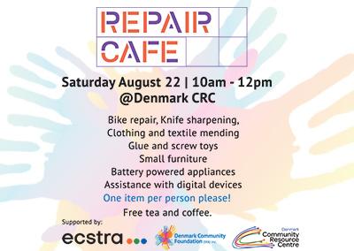 Aug 22. Repair Cafe