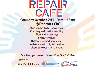 Oct 24 Repair Cafe